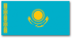 The Flag of the Republic of Kazakhstan
